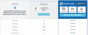 Clickfunnels Pricing Chart Studio
